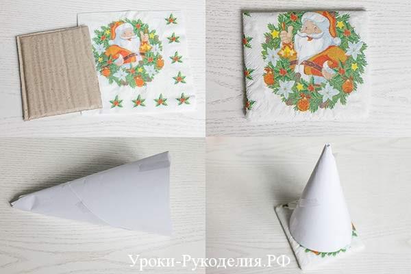 корпус для елочки из картона