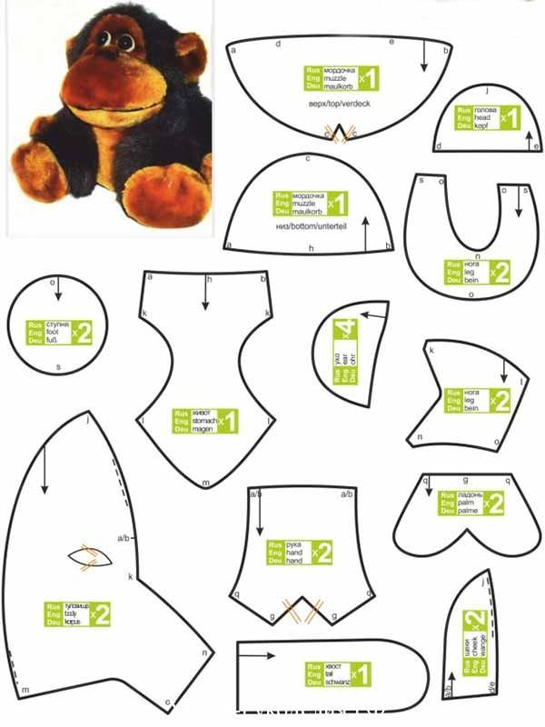 выкройка обезьяны