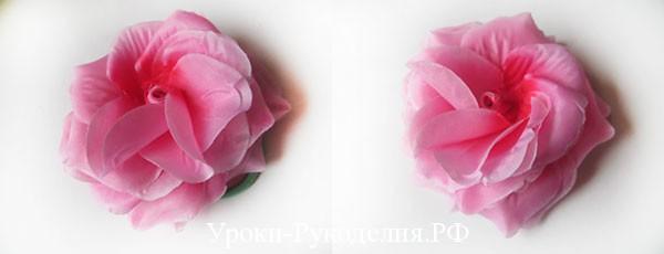 сделать быстро резинку с розой