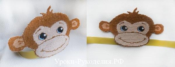 вышитая маска обезьяны