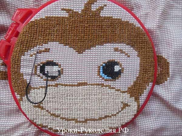 вышиваем обезьяну