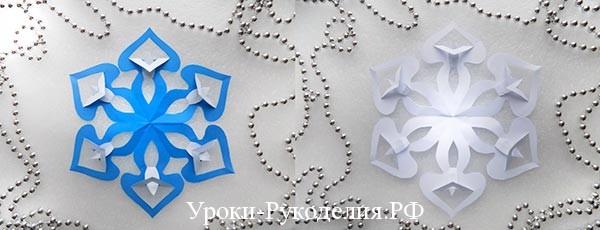 Снежинка в технике киригами: мастер-класс
