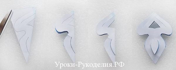вырезать снежинку киригами