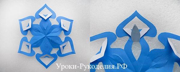 делать снежинку из бумаги оригами