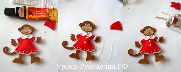 новогодние поделки обезьяна в платье