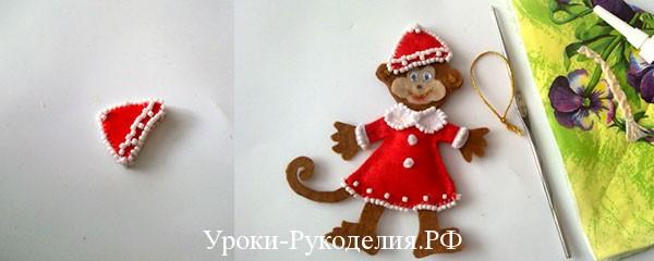 обезьяна снегурочка своими руками