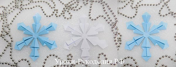 Снежинка оригами: мастер-класс
