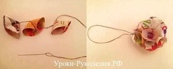 сделать шар из бумаги