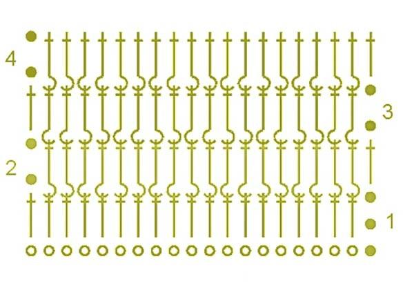 схема крючком для пинеток