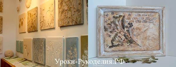 Панно-гербарий в интерьере