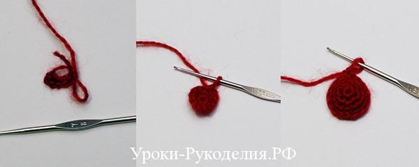 вяжем ягоду клубнику
