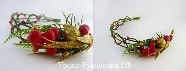 новогодние ободки