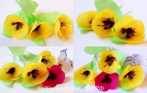 сделать цветок бумажный