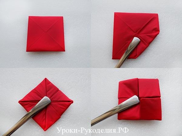 цветок из мягкой бумаги