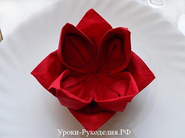 цветок на тарелку
