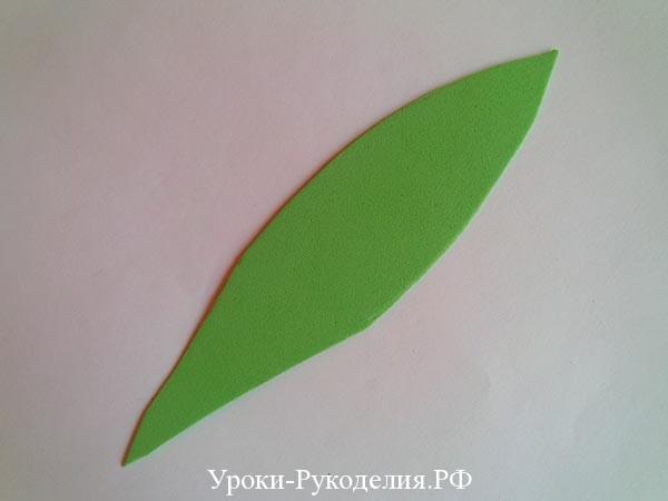 листик для тюльпана
