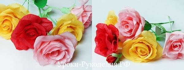 сделать розы в подарок