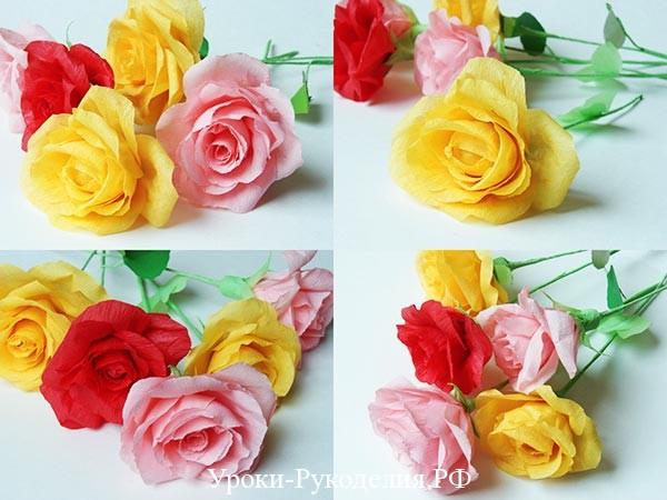 сделать пышную розу