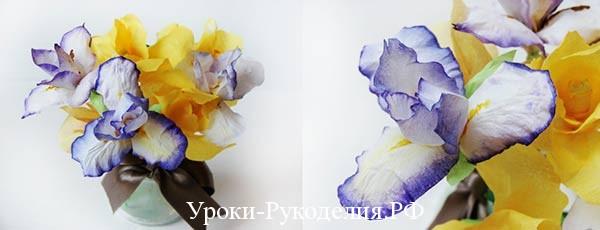 Цветы из бумаги своими руками: ирисы
