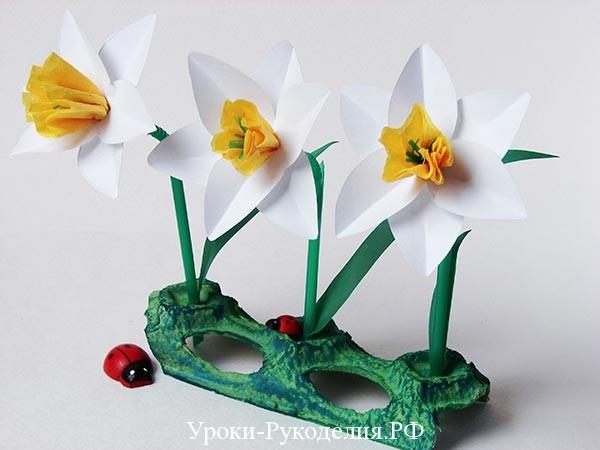 сделать цветы на пасху