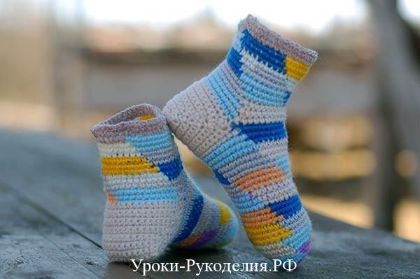 стильные носки крючком