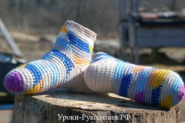 носки вязаные мастер класс