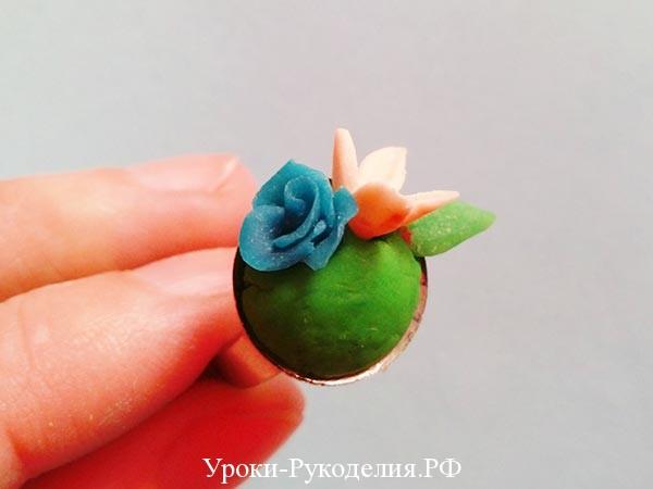 сделать на кольцо цветы