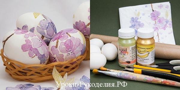 краски на яйце