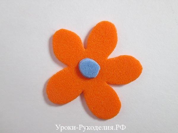 плоский цветок из фома