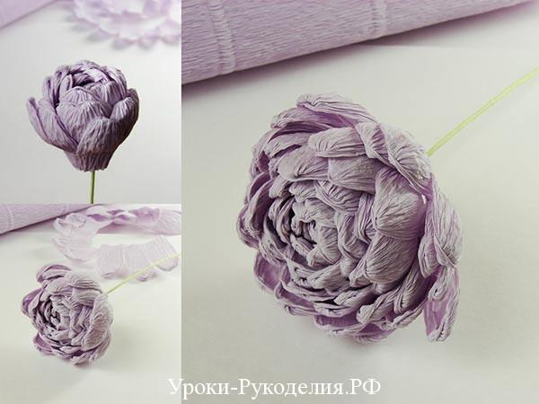 накручиваем из бумаги цветок