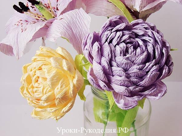 букет хризантем своими руками