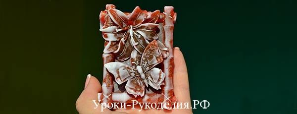 МК по созданию мыла «Бабочка на лилии»