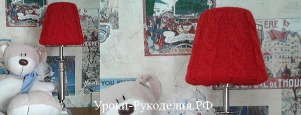 Вязаный абажур «Красная шапочка» своими руками