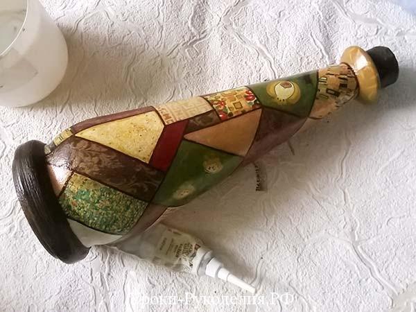 горлышко бутылки декор