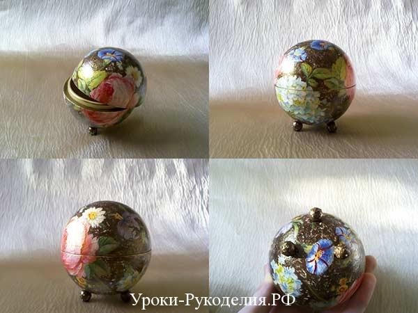 шкатулка шар