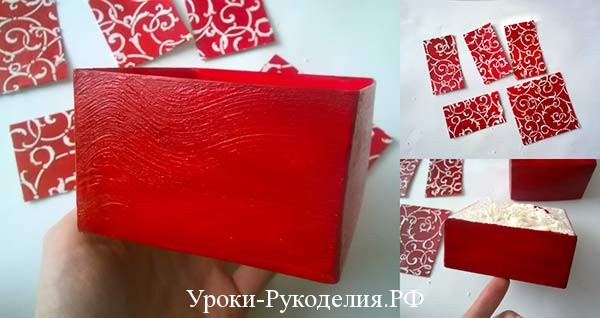 стенка коробки красная