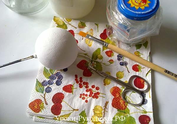 салфетка с ягодами