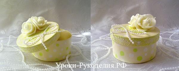 Шкатулка для украшений в романтическом стиле