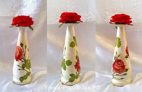 крышка на бутылку и лепестков роз