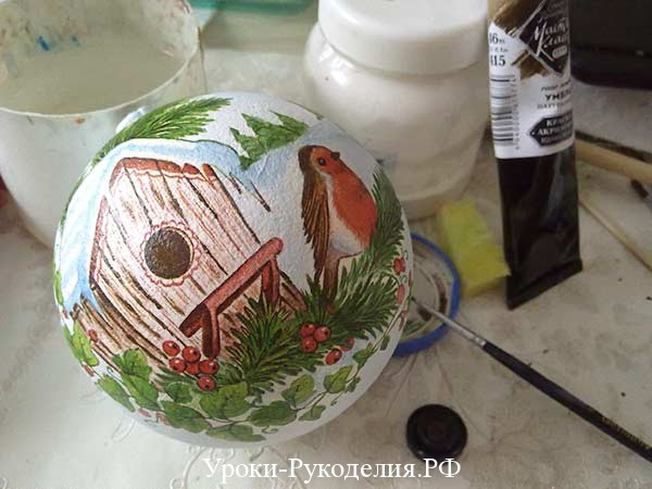 роспись шарика