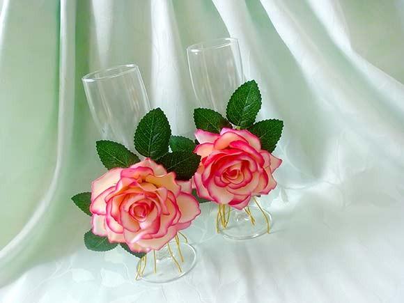 красивые бокалы свадьба