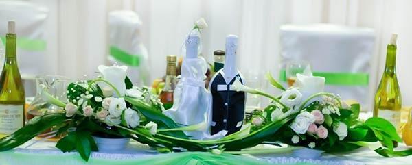 Свадебные быки — шампанское на свадьбу