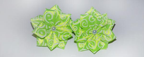 Резиночки для волос с цветком канзаши
