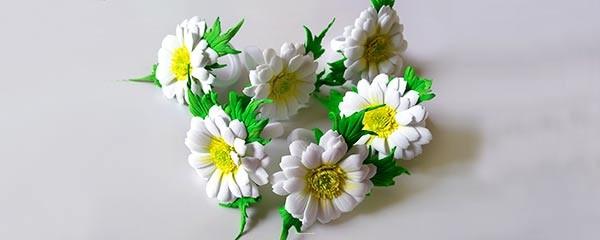 резинки с цветами для девочки