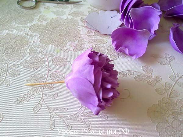 цветок пиона из фома