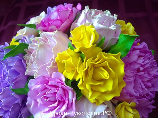 фоамиран цветы декор