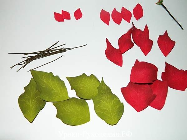 рожденственский цветок из фома