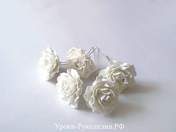 розы на шпильке