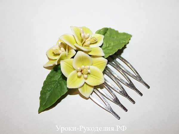 украшение с лилиями