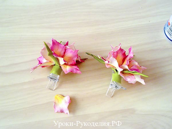 цветочки на детском зажиме